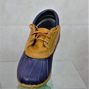 L.L. Bean Boots Gumshoes 7M Blue w/Brown Leather